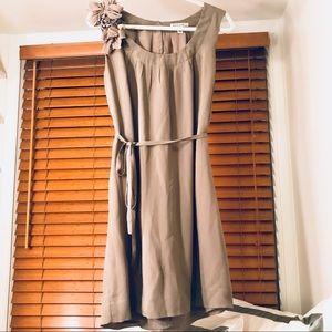Banana Republic Silk Dress - Beige, Sz 6